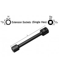 "3/8"" Extension Socket (Single Hex)"