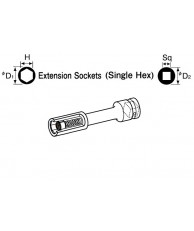 "3/8"" MS Extension Socket (Floating Magnet Type)"
