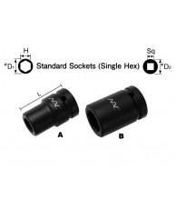 "1/2"" Standard Socket (Single Hex)"