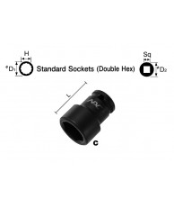 "1/2"" Standard Socket (Double Hex)"